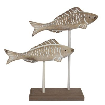 Wooden Fish Plinth