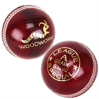 6 X Woodworm League Special 5 1/2Oz Cricket Ball Red