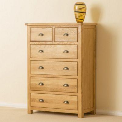 Roseland Oak 2 over 4 Drawer Chest