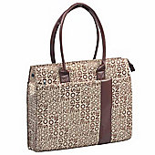 Promate Nicole Premium Ladies Tote Bag for Laptops/ultrabook/MacBook up to 15.6 - Brown