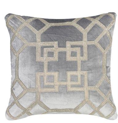 Fld Cushion 549 50x50 Velvet Geo