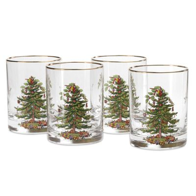 Spode Christmas Tree Glasses Set of 4