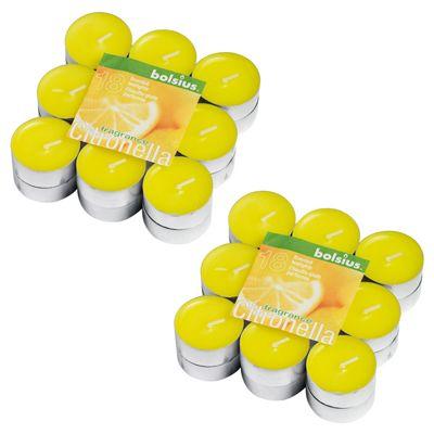 Bolsius Pack of 36 Citronella Tealights