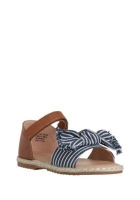 F&F Striped Bow Espadrille Sandals Tan Child 11