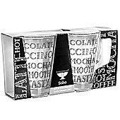 Ravenhead Soho Set of 2 Decorated Latte Glasses
