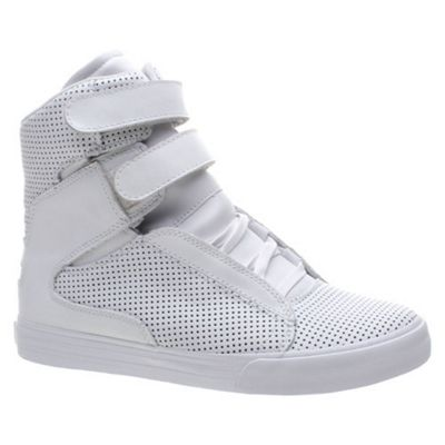 Supra Society White Perf Shoe