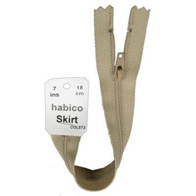 Skirt Zip - 18cm - Beige
