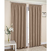 Enhanced Living Galaxy Pencil Pleat Curtains - Latte
