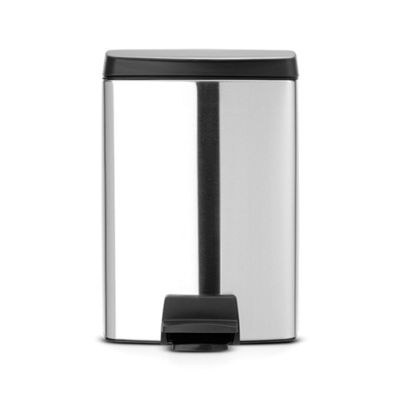 Brabantia Rectangular Pedal Bin, Stainless Steel Construction, 10 Litres, Matte Steel