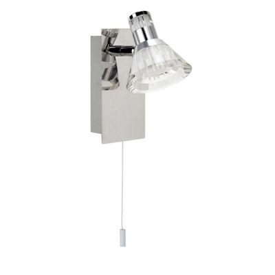 IP44 DIMMABLE 1 LIGHT LED SPOT WB, CHROME, CLEAR ACRYLIC SHADE