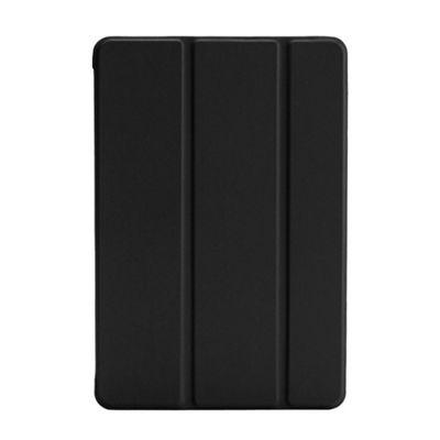 iPad Mini 4 Faux Leather Smart Three Fold Cover Case / Stand - Black