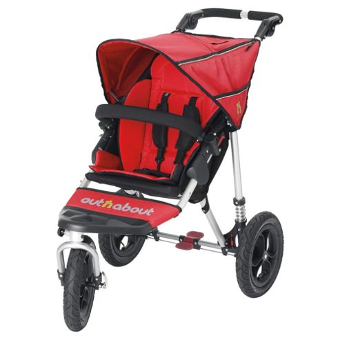 Out n About Nipper 360 Single Pushchair, Carnival Red