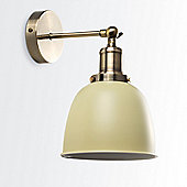 Wilhelm Antique Brass LED Wall Light with 4W Vintage Bulb