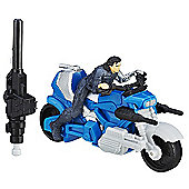 Marvel Captain America: Civil War 6cm Combat Racers - Winter Soldier with Blast Action Cycle