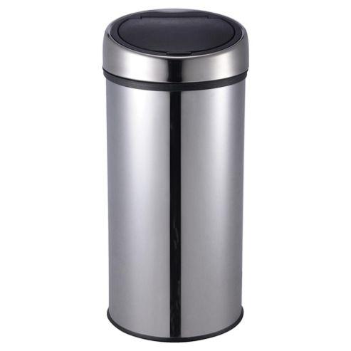 Tesco 30L Stainless Steel Push Top Open Kitchen Bin