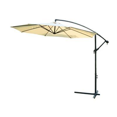 Outsunny 3m Garden Parasol Banana Umbrella Cantilever Beige