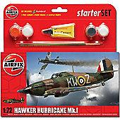 Airfix A55111 Hurricane Mk1 Starter Set Small 1:72 Aircraft Model Kit