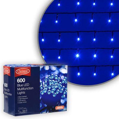 600 LED Blue Chaser Christmas Lights