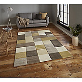 Brooklyn Edgy Squares Rug - Yellow