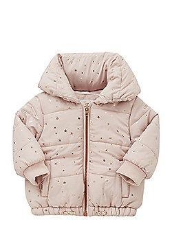 F&F Foil Star Print Padded Jacket - Pink