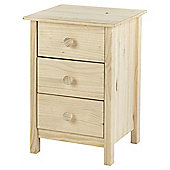 Nordic 3 Drawer Chest, Pine