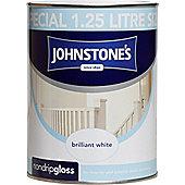 Johnstone's 306534 Non-Drip Gloss Paint - Brilliant White 1 .25 litre