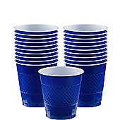 Royal Blue Cups - 266ml Plastic Party Cups - 20 Pack