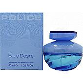 Police Blue Desire Eau de Toilette (EDT) 40ml Spray For Women
