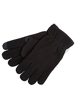 "F&F Fleece Touch Screen Gloves with Thinsulate""™ - Black"