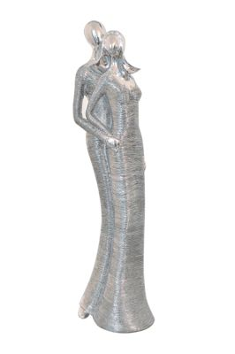 Buy Tall Silver Lovers Statue 16 From Our Ornaments