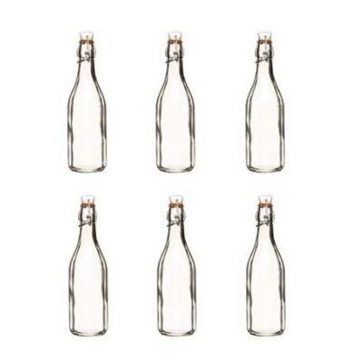 Glass Roma Bottle 250ml, Set of 6