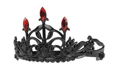 Adults Halloween Black Ruby Crown Tiara Vampires Fancy Dress Accessory