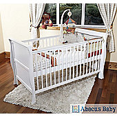 Scarlett Sleigh Cot Bed/Toddler Bed & Deluxe Sprung Mattress - White