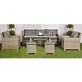 Wentworth Modular Sofa Garden Dining Set