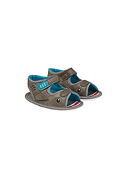 Mothercare Newborn's Shark Sandals Size 3-6 months