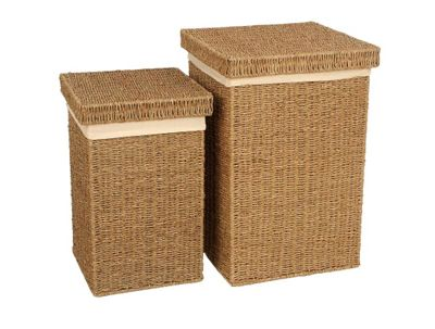 Wicker Valley Seagrass Linen Basket (Set of 2)