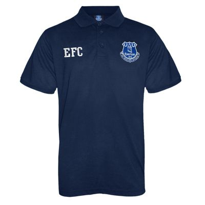 Everton FC Mens Polo Shirt Navy Blue 3XL