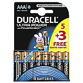 8 x Duracell MX2400 Ultra Power AAA Size Batteries
