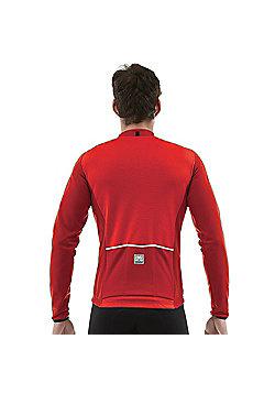 SP 2160 75 TEMPO - Santini Tempo Long Sleeve Jersey Red Medium