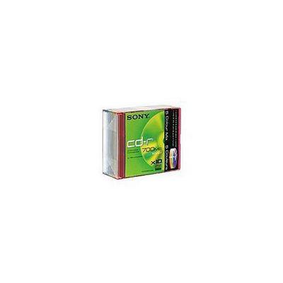 Sony CD-R 700MB 80min Coloured Slim Case 10 Pack