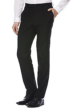F&F Slim Fit Suit Trousers - Black