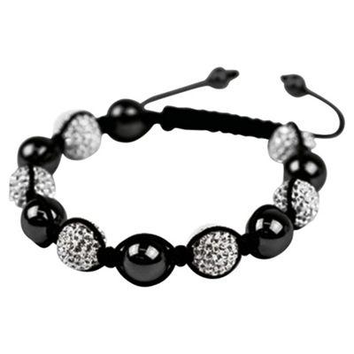 Silver and Black Crystal Bracelet