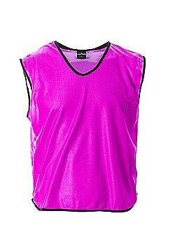 Mesh Football Rugby Sports Training Tank Top Sports Bib Pink - Pink