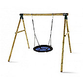 Plum Spider Monkey Wooden Swing Set