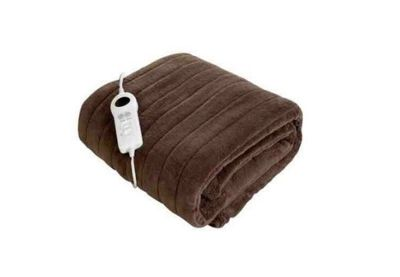 Brown Luxury Heated Warm Soft Electric Blanket Throw