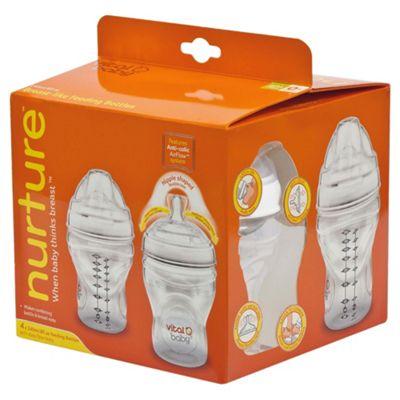 Buy Vital Baby Nurture Breast Like Feeding Bottle 240ml X4