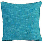 Homescapes Nirvana Cotton Teal Scatter Cushion, 45 x 45 cm