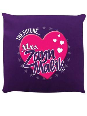 The Future Mrs Zayn Malik Cushion 40x40cm Purple