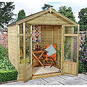 7 x 5 Rock Bloxham Summerhouse - Assembled Garden Wooden Summerhouse 7ft x 5ft (2.14m x 1.54m)