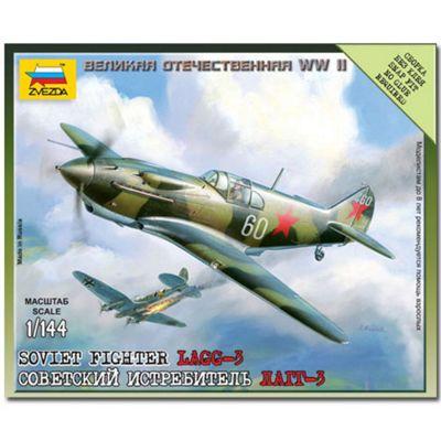 Zvezda 6118 Soviet Fighter Lagg-3 Snap Fit Aircraft Model Kit 1:144
